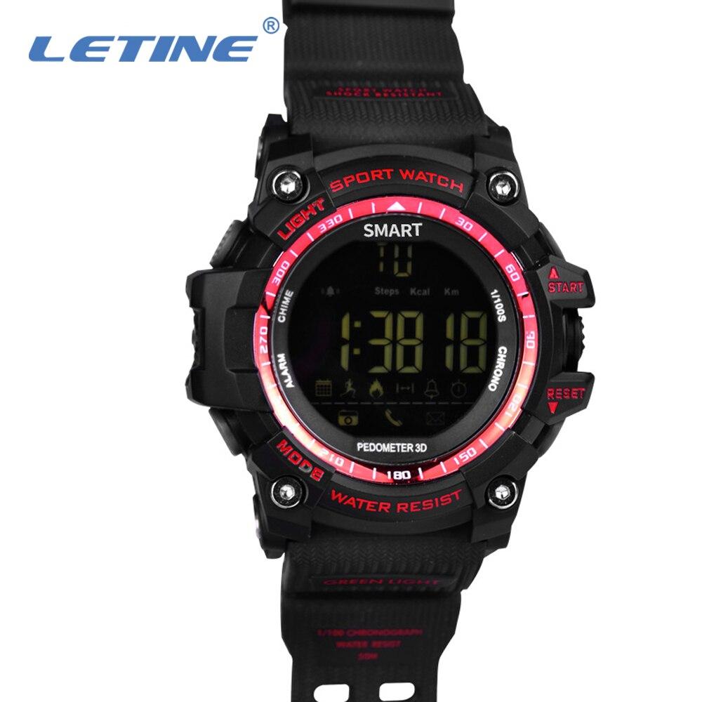LETINE EX16 спортивные Смарт-часы 5ATM IP67 водонепроницаемые Bluetooth Шагомер Секундомер Будильник часы Canlendar