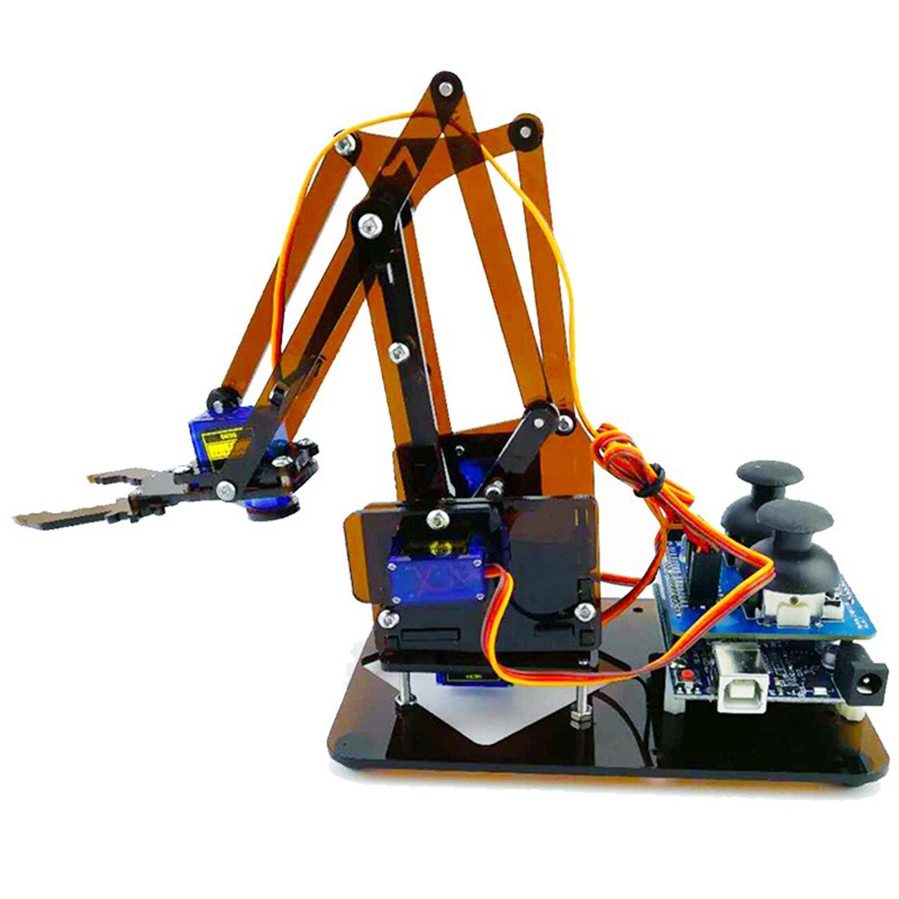 Garra de brazo mecánico robot, de acrílico, Para desmontar, para arduino maker, kit de robot de aprendizaje diy, 4 dof