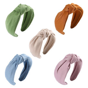 Hair Band Knot Casual Wide Women's Plain Accessories Tie Headband Hairband Hoop