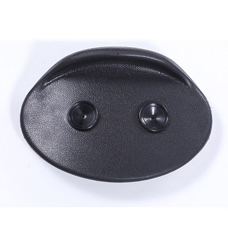 1 pieza de almohadilla de baño tipo ventosa PU negro antideslizante impermeable bañeras Kits