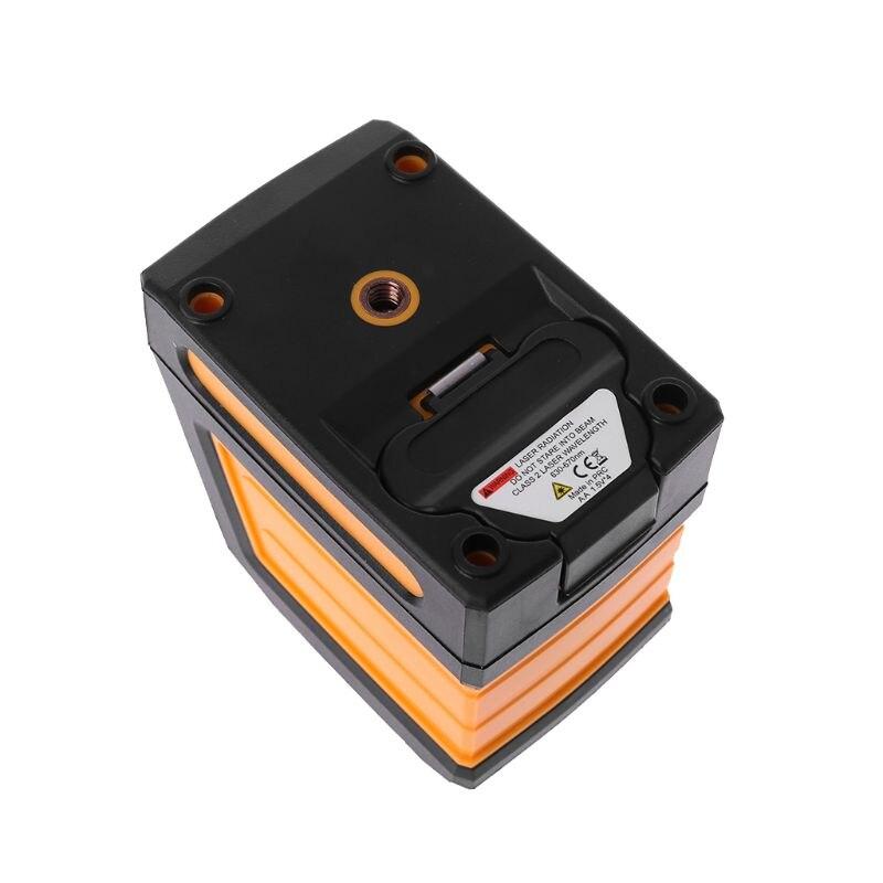 2 linhas de laser medidor de nível horizontal vertical cruz vermelha linha auto-nivelamento receptor ip54 sem suporte clipe r9jf