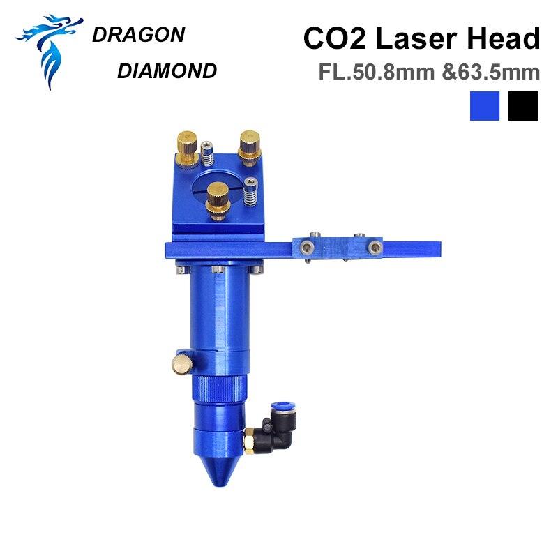 Cabeça do Laser do Co2 do Diamante do Dragão para Dia.20mm D25mm com Bocal da Assistência do ar para o Gravador do Laser Espelho fl 50.8 – 63.5mm 101.6mm
