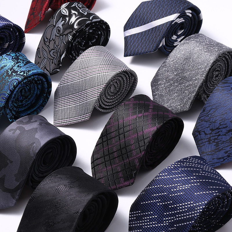 hot sale 6cm neck ties for men 6 cm wedding accessories slim fashionable neckties man Party Business Formal lot недорого