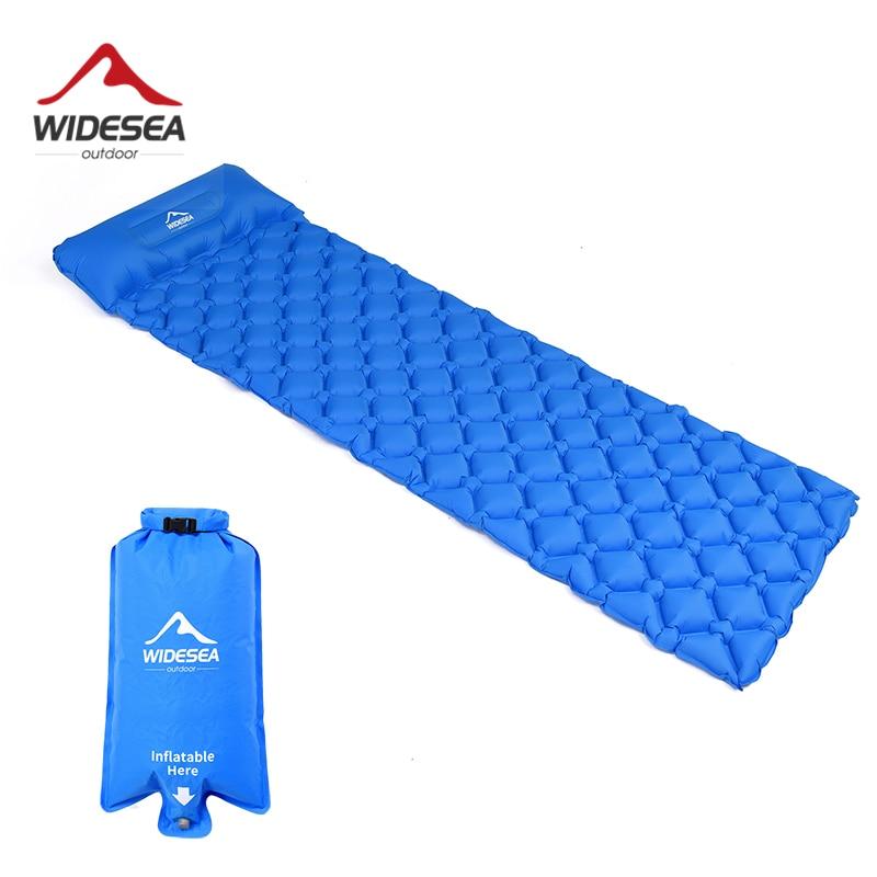 Widesea-مرتبة هوائية قابلة للنفخ للتخييم والنوم ، مرتبة خارجية ، أثاث ، سرير ، وسادة خفيفة للغاية ، وسادة للتنزه والرحلات
