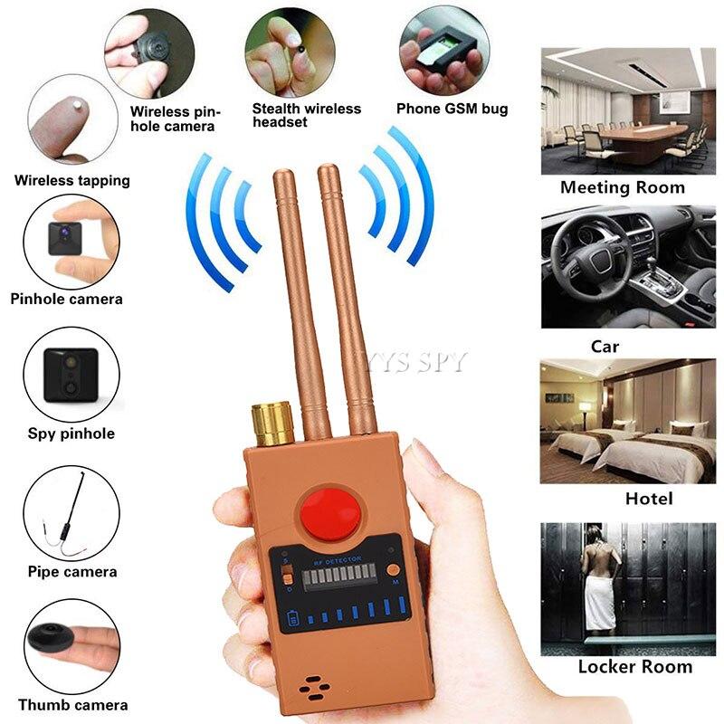 G529 RF Signal Hidden Spy Camera Detector Dual Antenna Wifi Secret GPS Audio GSM Mobile Micro Cam Anti Candid Bug Finder Scanner