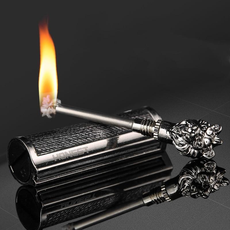 Permanent Match Instant Flint Fire Starter Lighter Kerosene Metal Keychain Lighter Portable Outdoor Survival Tool HONEST Lighter