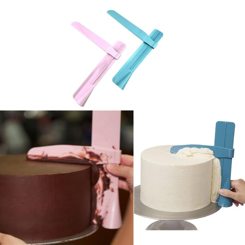 Raspador de torta suave ajustable Espátulas para Fondant Borde de pastel suave DIY crema utensilios para horno para decorar vajilla herramienta para tartas de cocina