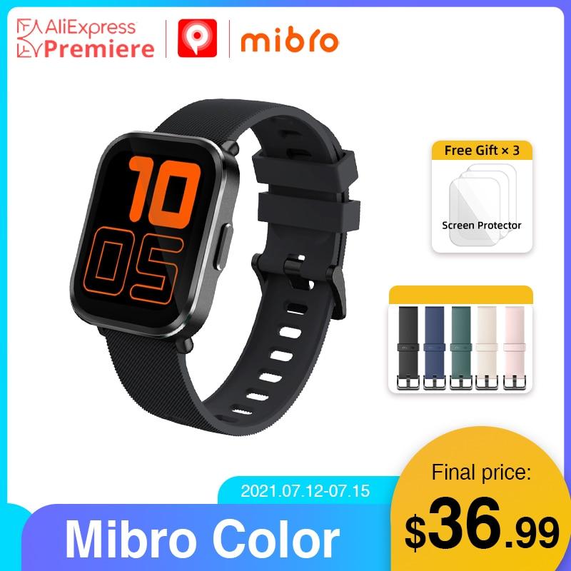 Promo Mibro Color Smartwatch 5ATM Waterproof Heart Rate Tracker 270mAh Battery Smart Watch for Women Men iOS Android sportsmartwatch