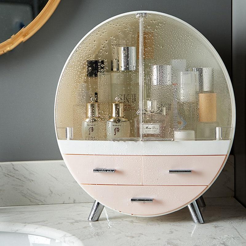 Cajón Caja de almacenaje para maquillaje baño cepillo lápiz labial titular de escritorio acrílico joyería cosmética cuidado de la piel organizador de cosméticos Rack hogar
