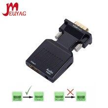 MEUYAG 1080P/720P VGA a HDMI-adattatore cavo convertitore compatibile ingresso alimentazione Audio per Monitor HDTV proiettore PC Laptop TV-BOX P