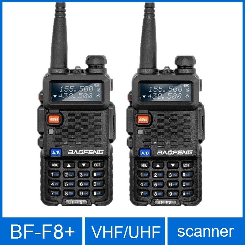 2 قطعة Baofeng BF-F8 اسلكية تخاطب المهنية CB راديو محطة Baofeng BF F8 الإرسال والاستقبال 5W VHF UHF المحمولة الصيد هام راديو