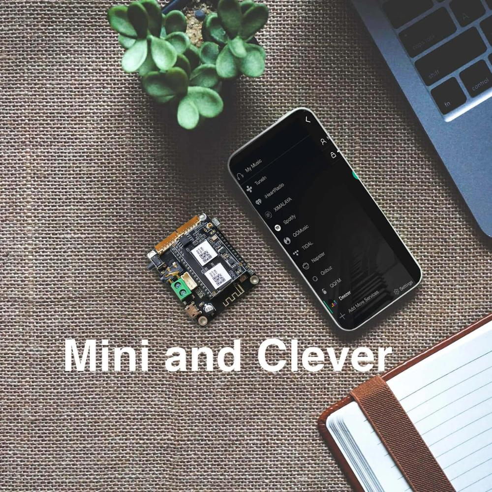 Up2Stream Mini V3 WiFi and Bluetooth Audio Receiver Board Module Wireless 24bit 192khz FLAC Multi-room DLNA Airplay Spotify enlarge