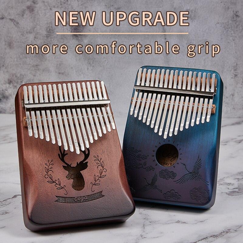 Cega kalimba 17 llave cuerpo de caoba piano 17 llaves mbira instrumento Musical mejor calidad y precio