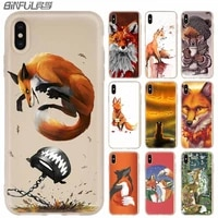 silicone soft cover for iphone 12 11 pro x xs max 7 8 plus 6s 6 5 se 2020 mini anime funny foxs lovely cute