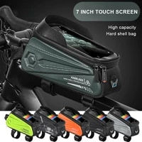 new waterproof bicycle bag 7 0 inch touch screen phone bag case touchscreen bag mtb pack bike accessories