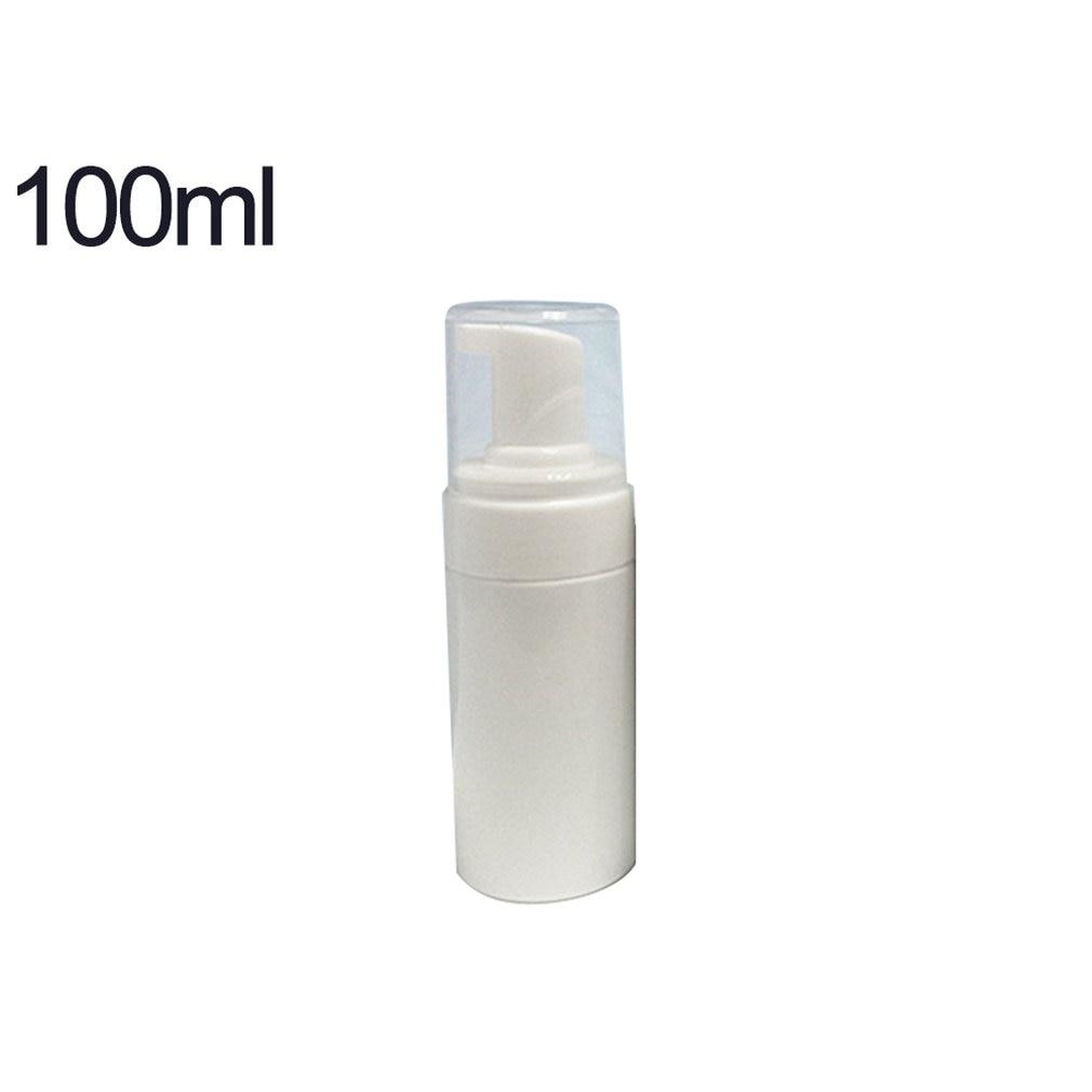 100ml portátil ligero limpiador botella rellenable de Mousse de vacío de bomba de plástico Vial de botella de viaje olla de jabón en espuma Mousse líquido