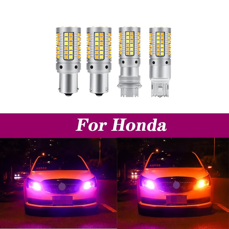 2 uds coche WY21W T20 7440 luces LED con luces de señal de vuelta de luz Bombillas LED DRL luces diurnas para Honda CRV 3 2008