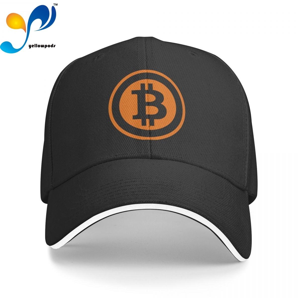 Бейсболка с логотипом биткоина, Кепка-бейсболка для мужчин, мужские шапки с Бейсбольным клапаном, кепки с логотипом
