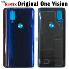 Original For Motorola One Vision Back Battery Cover Door Rear Glass Housing Case For Moto One Vision Battery Cover housing