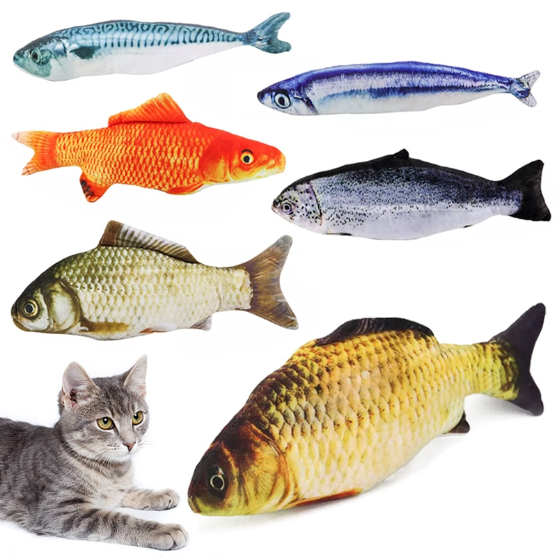 aliexpress.com - 3D Simulation Fish Shape toy  Cat Toy with Catnip Stuffed Pillow Chew Bite Doll For Pet Cat Kitty Game