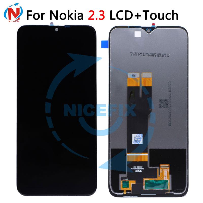 "6.2 ""para nokia 2.3 lcd screen display toque digitador assembléia com ferramentas para nokia 2.3 ta-1211 ta-1214 ta-1206 ta-1209 lcd"