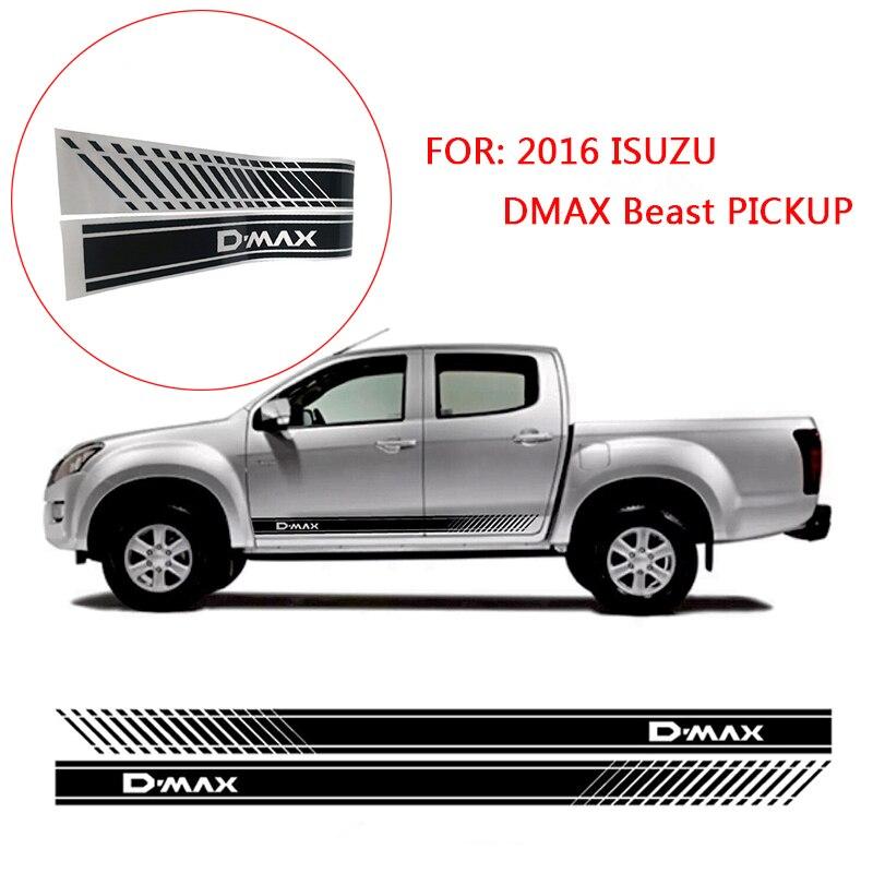 2 шт градиентная наклейка на дверь, боковая графическая наклейка для 2016 ISUZU DMAX Beast PICKUP