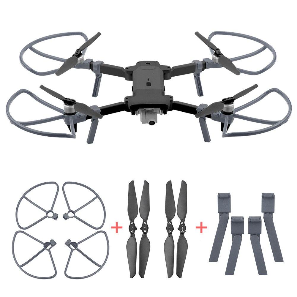Hélice plegable 4 Uds + protector de hélices + pierna extendida para Xiaomi FB X8 SE Drone Quadcopter juguetes para niños # G20