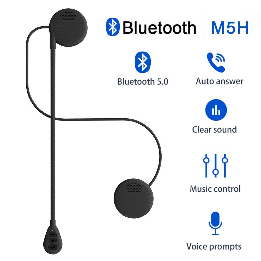 DIY Bluetooth 5.0 Moto Helmet Headset Wireless Handsfree Stereo Hi-Fi Headset Durable Motorcycle Helmet Headphones