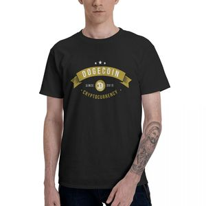 Dogecoin Cryptocurrency Since 2013 Graphic Tee Men's Basic Short Sleeve T-Shirt Funny Tops