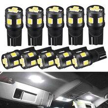 10X LED T10 W5W white 12V Car Interior Bulb Light For Toyota Avensis Rav4 Opel Astra H G J Insignia Mokka Ford Focus 2 3 Fiesta