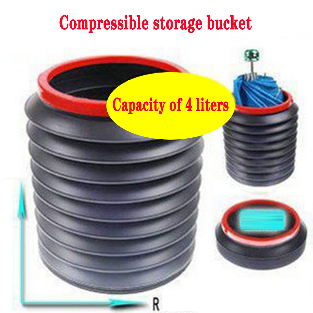 Car accessories retractable folding trash cans portable water storage buckets for cars outdoor fishi