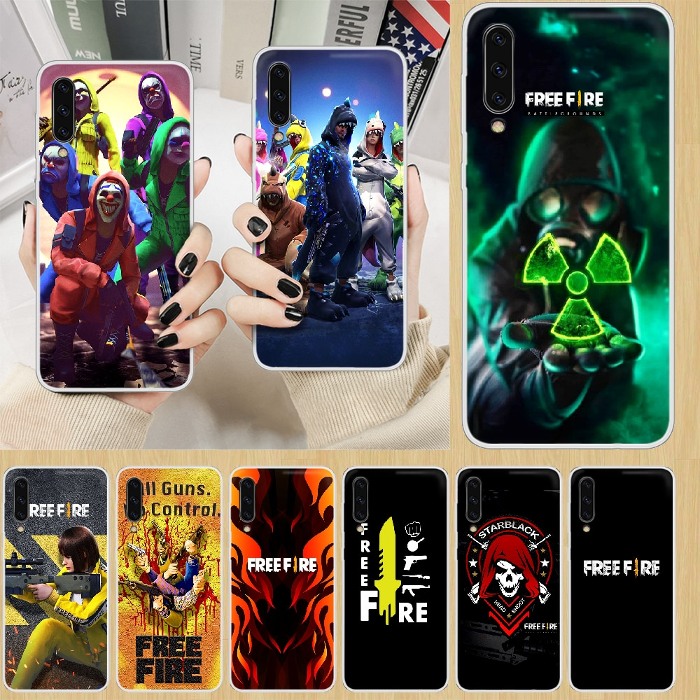 free fire Battle Royale game Phone Case hull For SamSung Galaxy note A 5 7 8 9 20 30 40 50 51 60 70 71 80 2017 18 E transparent