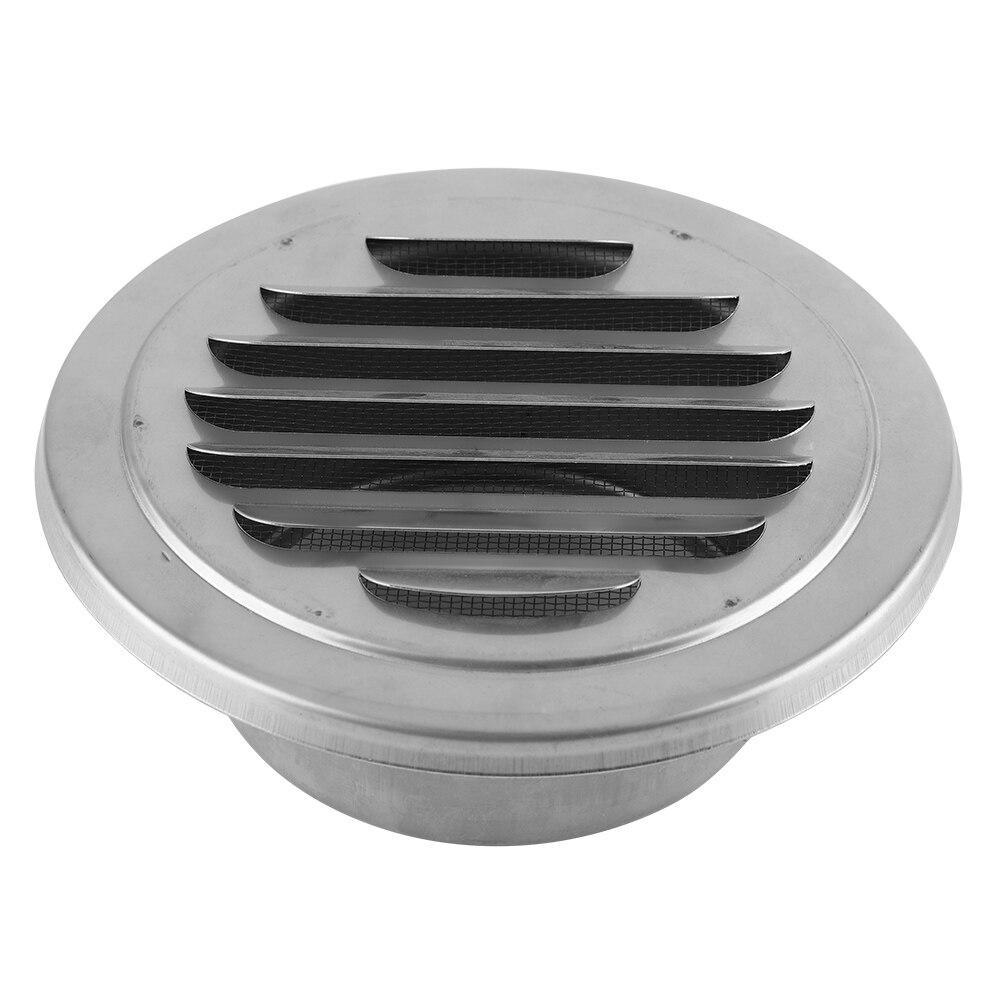 Rejilla de aire de pared de acero inoxidable, rejilla plana redonda, cubierta de ventilación, salida de malla de insecto