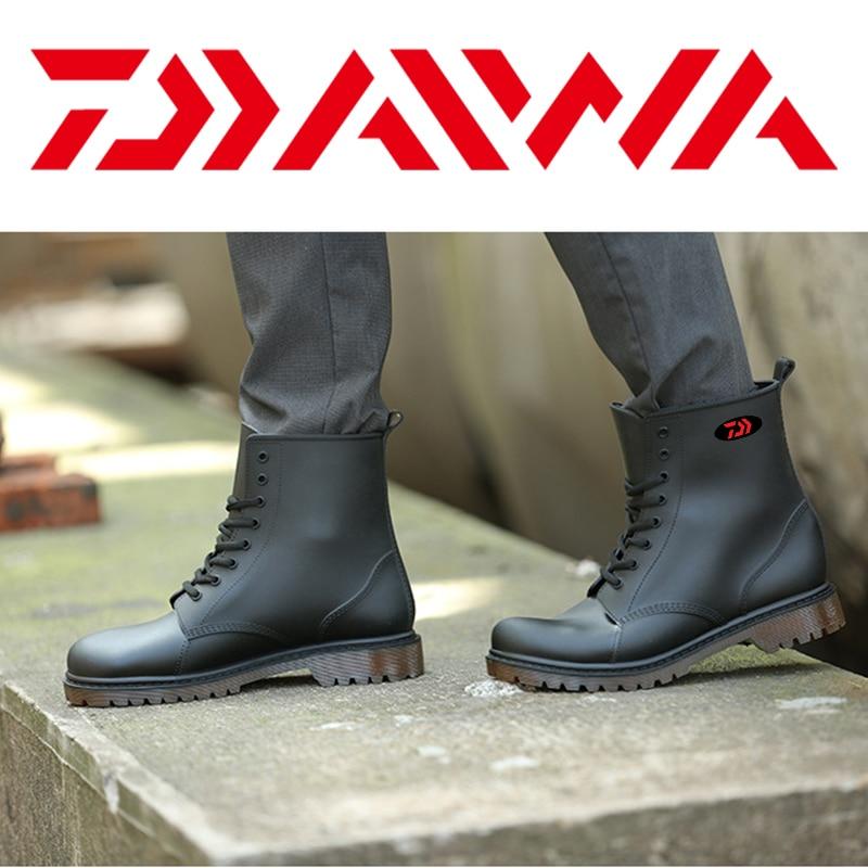 Daiwa, Botas de lluvia de pesca impermeables con movimiento al aire libre para hombres, Botas de lluvia cálidas transpirables antideslizantes resistentes al desgaste, Botas de lluvia 36-44