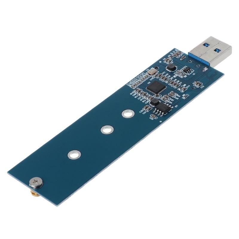 M.2 A Adaptador USB B clave M.2 SSD adaptador USB 3,0 a 2280 M2 NGFF SSD convertidor adaptador de disco lector SSD tarjeta LX9A
