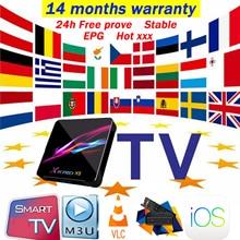 14 months warranty World IPTV M3U Arabic UK USA Europe Spain España Italy IPTV Android M3U Smart TV no channels or App included
