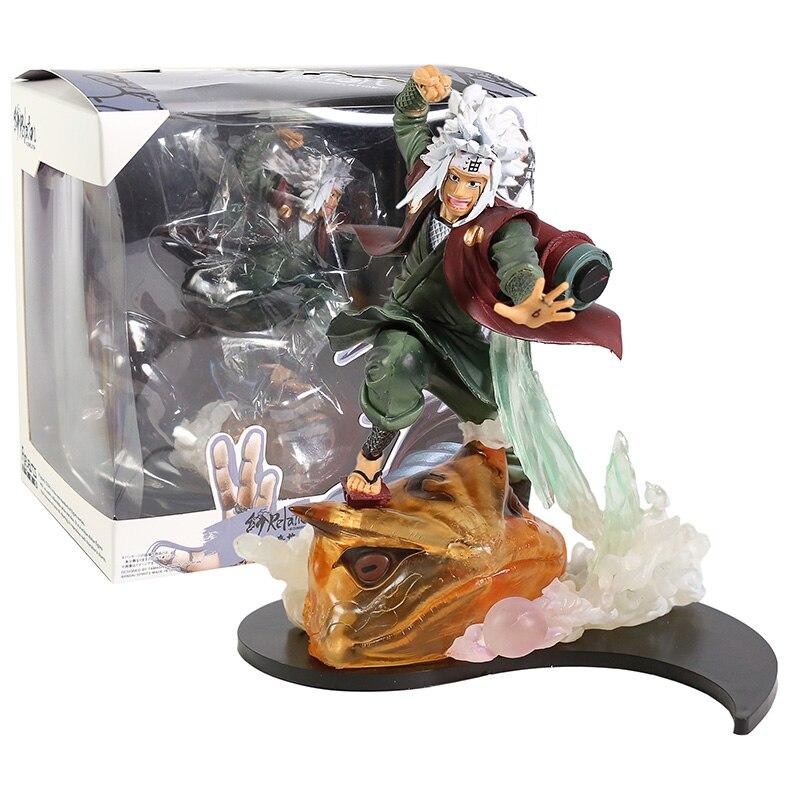 Naruto shippuden relação jiraiya com gama bunta pvc figura collectible modelo de brinquedo