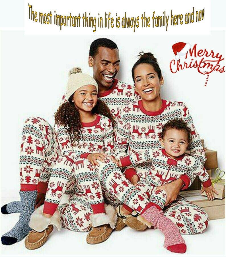 Conjunto de pijamas de Navidad, juego familiar, ropa para bebés, ropa a juego para mamá y papá, disfraces familiares, pijamas de Navidad, 2019 caliente