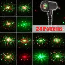 Boże narodzenie światła na zewnątrz gwiazda projektor laserowy Fairy prysznice światła 24 wzory ruchu RF zdalnego wodoodporna noworoczne dekoracje