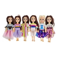 6 stylelot doll clothes dresses for barbie baby girl 5 5 inch kids toys miniature accessories diy chirstmas present for girls