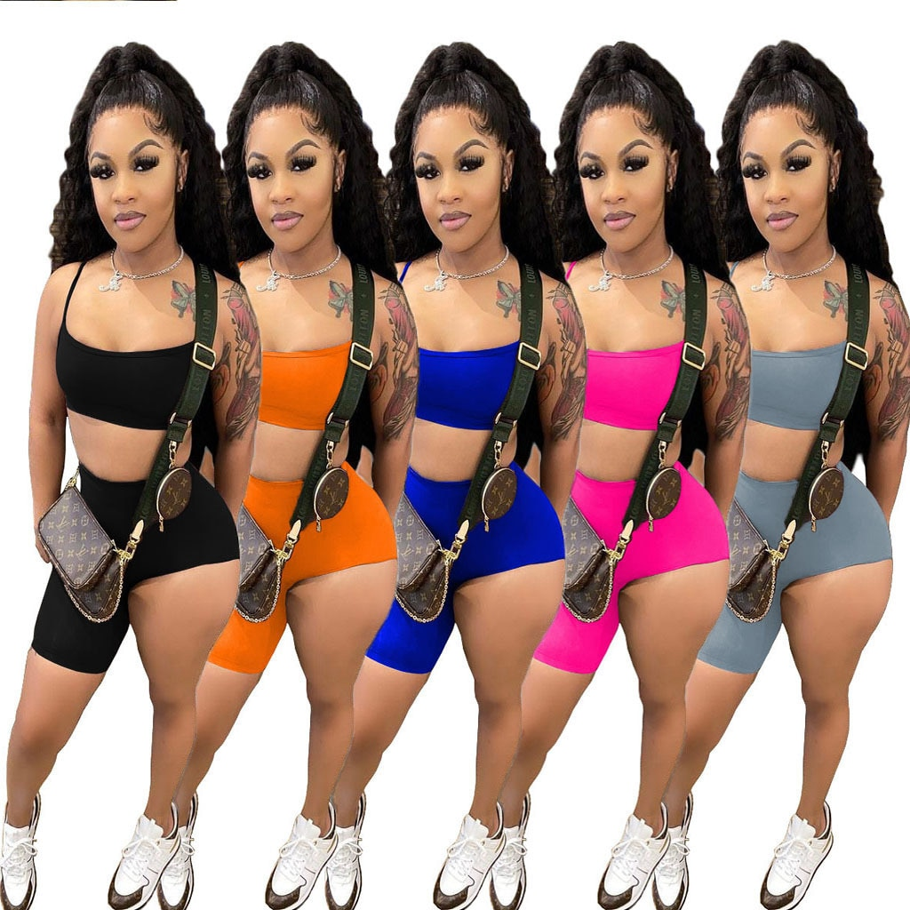 echoine-solid-strap-spaghetti-crop-top-irregular-shorts-two-piece-set-summer-sport-tracksuit-matching-set-party-club-outfits
