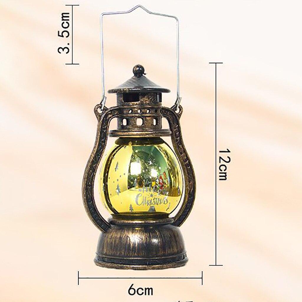Lámparas decorativas Vintage de Navidad, linterna LED USB, luz de noche, señal acrílica en 3D, decoración para bodas, cumpleaños, fiesta, decoración, Luz