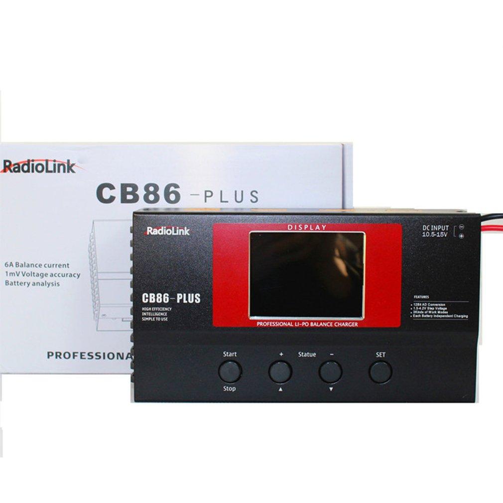 RadioLink CB86 Plus cargador de equilibrio de plástico neutro/para RC 8 Uds 2-6S batería Lipo al mismo tiempo, KITS de BULIDING negro 1pc