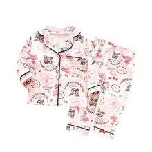 SAILEROAD Mädchen Flamingo Pyjamas Kinder Lange Sleeve Pyjamas Baumwolle Kinder Pyjamas Frühling Herbst Kind Hause Tragen Jungen Nachtwäsche