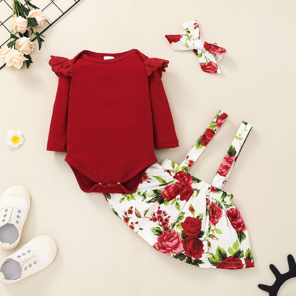Цветочный комплект одежды для маленьких девочек, осенняя одежда для новорожденных, боди, одежда для малышей, одежда для маленьких девочек о...