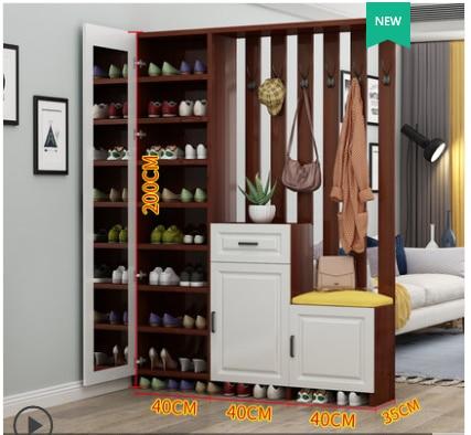 خزانة أحذية مع حاجز ، خزانة أحذية ، شرفة ، مدخل ، حديث ، بسيط ، غرفة معيشة