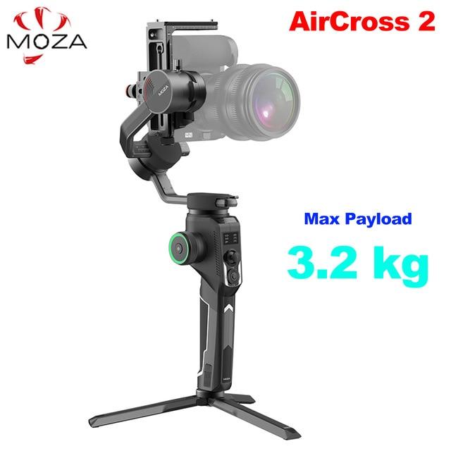 موزا AirCross 2 3-Axis يده مثبت Gimbal لسوني A7 A7II A6400 A9 باناسونيك GH5 GH4 كانون DSLR Mirrorless كاميرات