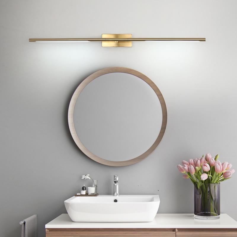luminaria led dourada e preta para espelhos ac90 260v luminaria de parede para espelho