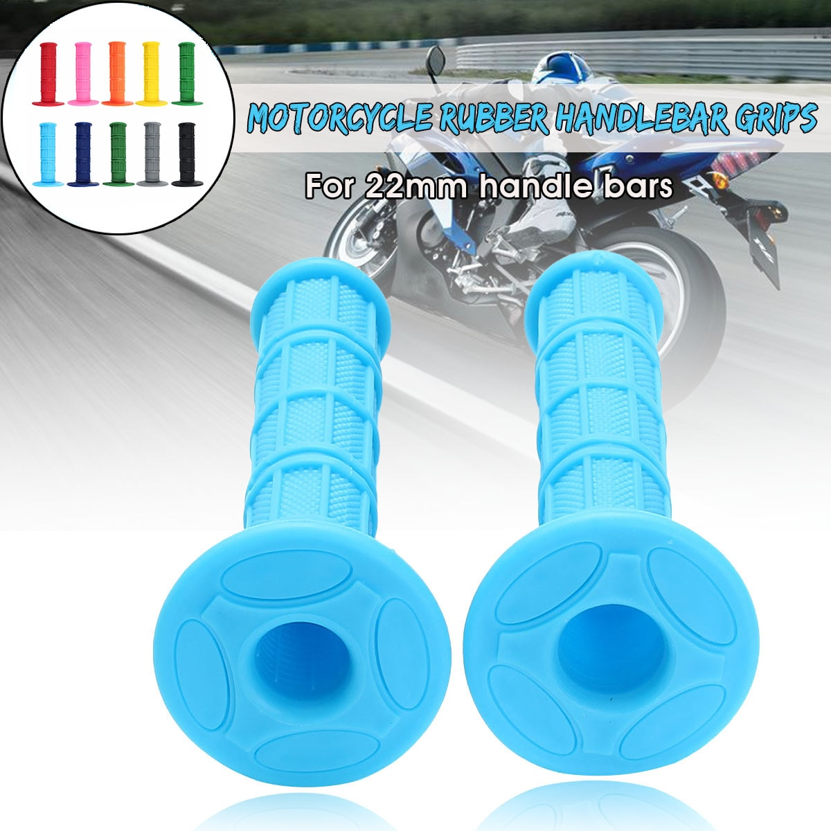 "Manillar de goma Universal para motocicleta de 22mm y 7/8 "", manillares de mano para motocicleta CRF YZF WRF KXF KLX RMZ Pit Dirt Bike Motocross"