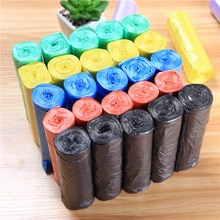 Brand New Material Disposable Color Garbage Bag Household 5 Roll Packing Plastic Bag Point Break  Ga